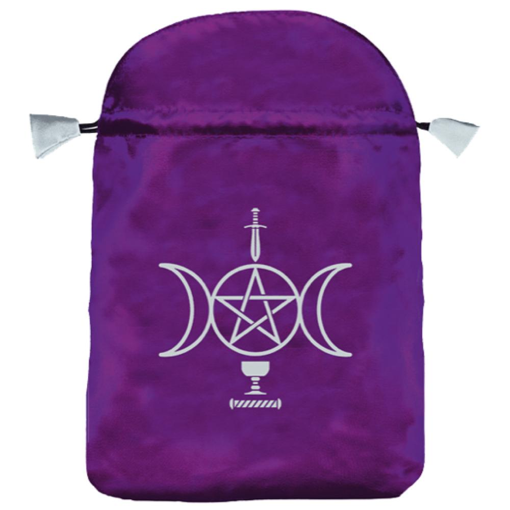 Bourse-satin-violet-wicca