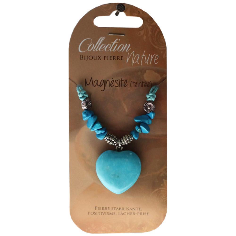 Collier-pendentif-coeur-et-perles-baroques-Magnesite-lot-de-6