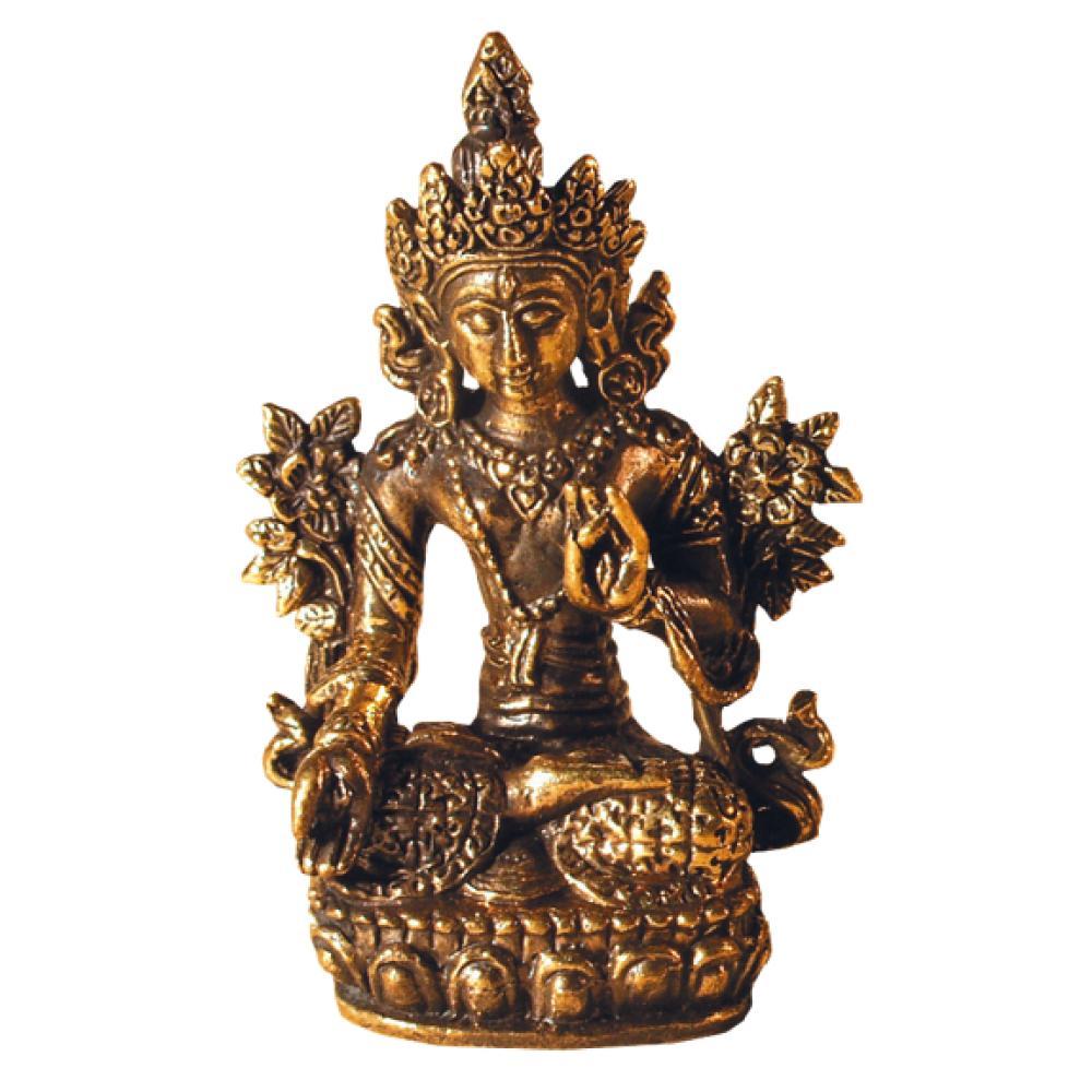 Mini-Statue-Tara-Blanche-laiton-3x5cm